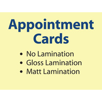 500 x Appointment Cards - 360gsm