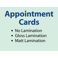 1,000 x Appointment Cards - 360gsm