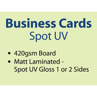 500 x Business Cards - 420gsm - Spot UV.