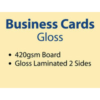 2,000 x Business Cards - 420gsm -Gloss Lamination 2 sides