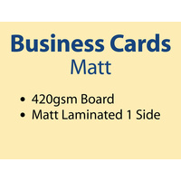 2,000 x Business Cards - 420gsm - Matt Lamination 1 side