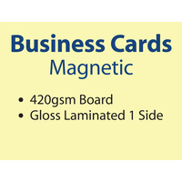 250 x Business Cards - Full Magnet