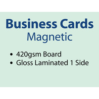 500 x Business Cards - Full Magnet