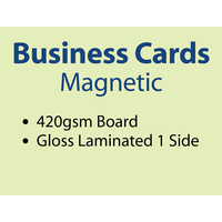1,000 x Business Cards - Full Magnet