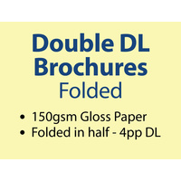 10,000 x Double DL Brochures Folded