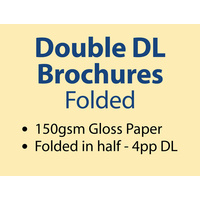 20,000 x Double DL Brochures Folded