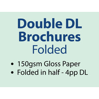2,500 x Double DL Brochures Folded