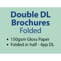 1,000 x Double DL Brochures Folded