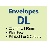 5,000 x DL Plain 220x110 mm - 1 or 2 colours