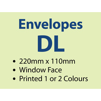 5,000 x DL Window 220x110 mm - 1 or 2 colours