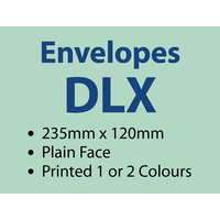2,000 x DLX Plain 235x120 mm - 1 or 2 colours