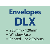 1,000 x DLX Window 235x120 mm - 1 or 2 colours