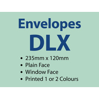 5,000 x DLX Window 235x120 mm - 1 or 2 colours