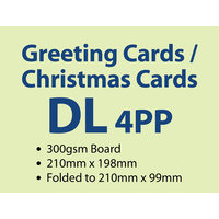 200 x 4pp DL Greeting Card
