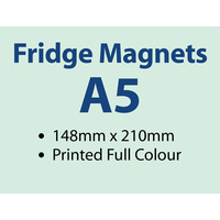 250 x A5 Fridge Magnets - 0.6mm