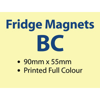 250 x BC Fridge Magnets - 90x54mm -  0.6mm