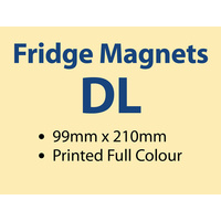 500 x DL Fridge Magnets - 97x210mm -  0.6mm