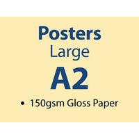250 x A2 Large Poster - 150gsm