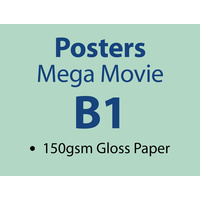 100 x B1 Mega Movie Poster - 150gsm