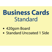 500 x Business Cards - 420gsm