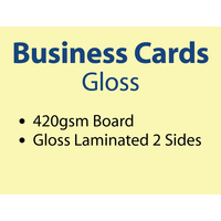 500 x Business Cards - 420gsm -Gloss Lamination 2 sides