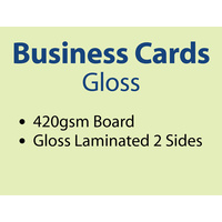1,000 x Business Cards - 420gsm -Gloss Lamination 2 sides