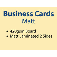 2,000 x Business Cards - 420gsm - Matt Lamination 2 sides