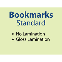 1,000 x Standard Bookmarks - 310gsm