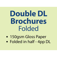 5,000 x Double DL Brochures Folded