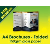 5,000 x A4 Brochures Folded - Free Freight