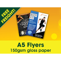 5,000 x A5 Flyers - Free Freight