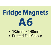 250 x Standard Fridge Magnets - 90x150mm -  0.6mm